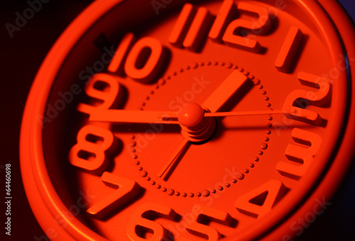 Leinwanddruck Bild Clock face