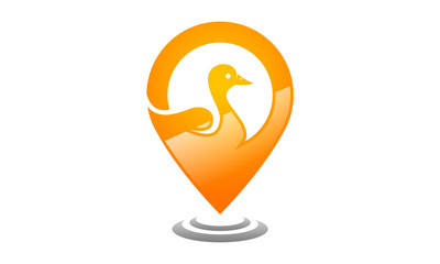 duck location abstract icon