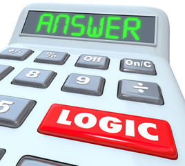 Logic Word Calculator Numbers Formula Equation Answer