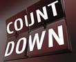 Countdown Word Retro Clock Flipping Tiles Deadline Now