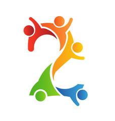 Number 2 Teamwork logo