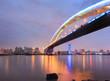 shanghai lupu bridge across the huangpu river