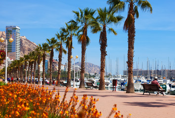 Embankment in Alicante