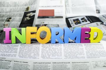 Word informed on newspaper