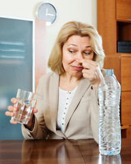 mature woman with poor quality water