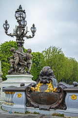 Paris, France. Pont Alexandre III. architectural de