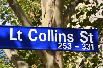 Lt Collins Street Sign - Melbourne
