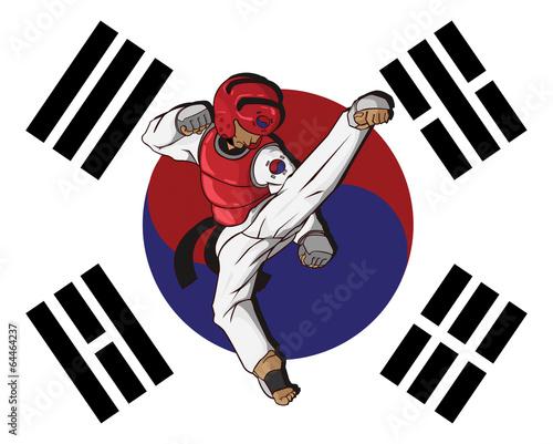 Fototapeta Taekwondo martial art
