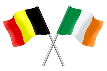 Flags : Belgium and Ireland