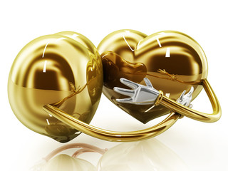 Heart shaped couple