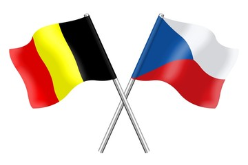 Flags : Belgium and Czech Republic
