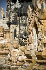 détail de temple, Myanmar