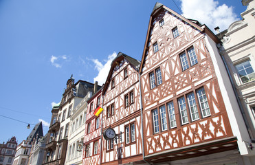 Tradiontal houses at Hauptmarkt, Trier Germany