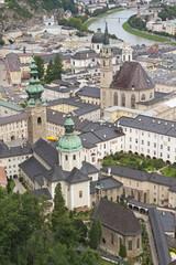 The historic center of Salzburg.