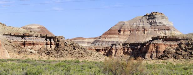 panoramique collines de l'Utahn