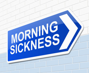 Morning sickness concept.