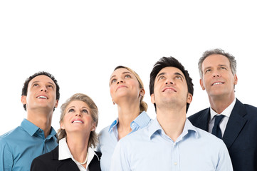 Business People Looking Up
