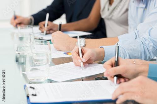 Przedsiębiorców biorących notatki