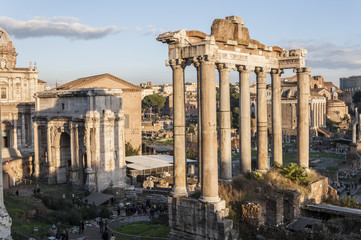 Views of Roman Forum, Rome, Italy