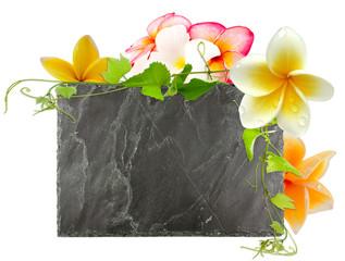 ardoise florale
