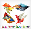 Triangle geometric shaped web boxes