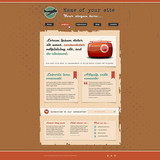 Website template in retro design