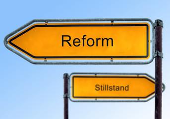 Strassenschild 5 - Reform
