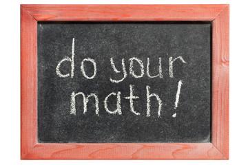 do your math