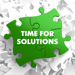 Time For Solutions on Green Puzzle.