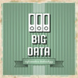 Big Data Concept on Green in Flat Design.