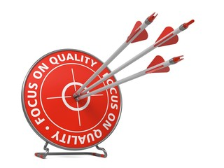 Focus on Quality Concept - Hit Target.