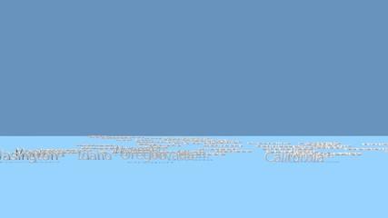 アメリカ合衆国の州(ワシントン)_オーバーレイ用クロマキー動画素材