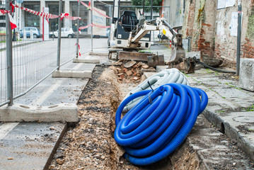 Cantiere lavori in corso, segnali di rifacimento stradale