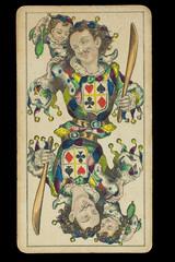 Joker_Handbemalte Spielkarte_sehr alt