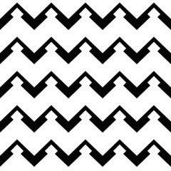 zigzag chevron pattern in black and white