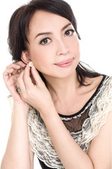 Young casual woman portrait isolated