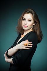 Portrait of beautiful girl with jewel
