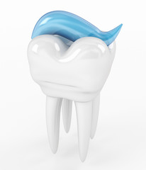 Toothpaste and tooth