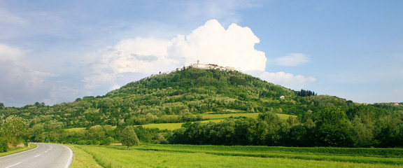 Landscape view of medieval town Motovun, Croatia