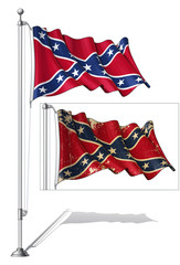 Flag Pole Confederate Rebel