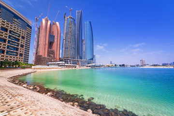 Coastline of Abu Dhabi, the capital of United Arab Emirates