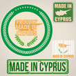 Made in Cyprus stamps and labels
