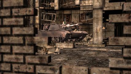 Panzer in der Stadt