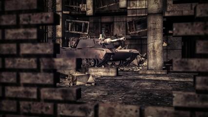 M1 Tank in City