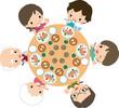 一家団欒の夕食