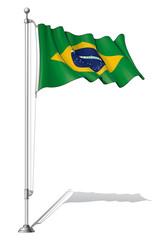 Flag Pole Brazil