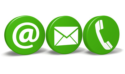 Website Contact Green Icons