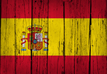 Spain Flag Grunge Background