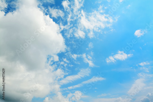 soft clouds in the blue