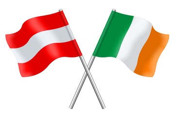 Flags : Austria and Ireland